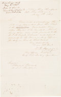 "Autographs:Military Figures, Admiral David G. Farragut: Letter Signed [LS] Aboard His Flagship ""The Hartford"".. ..."