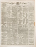 Political:Miscellaneous Political, Abraham Lincoln: New York Daily Tribune Dated March 5, 1861 - Lincoln's First Inauguration.. ...