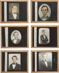 Photography:Ambrotypes, Abraham Lincoln: Six Glass Lantern Slides.. ... (Total: 6 Items)