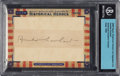 Non-Sport Cards:Singles (Post-1950), 2009 Razor Historical Heroes Amelia Earhart BGS Authentic. ...