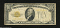 Small Size:Gold Certificates, Fr. 2400 $10 1928 North Africa Silver Certificate. Very Good....