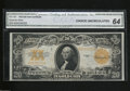 Large Size:Gold Certificates, Fr. 1187 $20 1922 Gold Certificate CGA Choice Uncirculated....