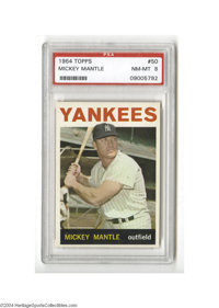 Baseball 1964 Topps Mickey Mantle #50 PSA NM-MT 8. Other cards could take lessons on centering from this one, and gloss...