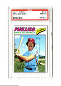 Baseball Cards:Singles (1970-Now), Baseball 1977 Topps Mike Schmidt #140 PSA Mint 9....