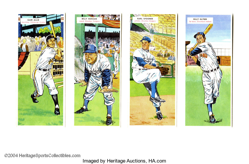 1955 Topps Double Header Lot Of 4 Baseball Cards Lots