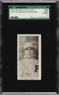 Baseball Cards:Singles (Pre-1930), 1903 E107 Breisch Williams Klondike Douglass (Ad Back) SGC 10 Poor 1....