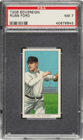 Baseball Cards:Singles (Pre-1930), 1909-11 T206 Sovereign Russ Ford PSA NM 7 - Pop One, None Higher for Brand! ...