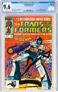 Transformers #3 (Marvel, 1985) CGC NM+ 9.6 White pages