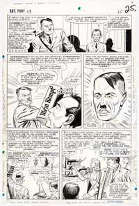 Dick Ayers and John Tartaglione Sgt. Fury and the Howling Commandos #29 Story Page 19 Original Art (Marvel, 1966)