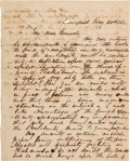Autographs:Military Figures, Confederate General Edmund Kirby Smith Letter to Major General J. George Walker Clarifying a Misunderstanding About Concerns o...