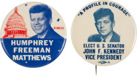 """John F. Kennedy: Two """"Better"""" Buttons.... (Total: 2)"""
