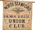 Political:Textile Display (pre-1896), [Stephen A. Douglas]: Folk-Art Campaign Banner from Connecticut.. ...