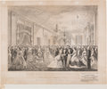 Political:Posters & Broadsides (pre-1896), Abraham Lincoln: Grand Reception Print At The White House.. ...