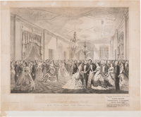 Abraham Lincoln: Grand Reception Print At The White House