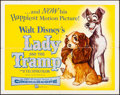 """Movie Posters:Animation, Lady and the Tramp (Buena Vista, 1955). Folded, Fine/Very Fine. Half Sheet (22"""" X 28""""). Animation.. ..."""