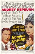 "Movie Posters:Romance, Roman Holiday (Paramount, R-1962). Folded, Very Fine-. One Sheet (27"" X 41""). Romance.. ..."