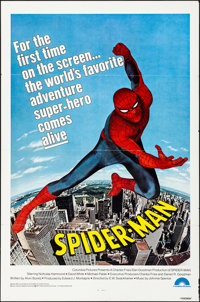 """Spider-Man (Columbia, 1977). Folded, Very Fine-. One Sheet (27"""" X 41""""). Action"""