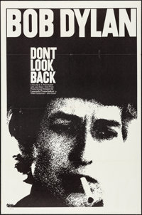 "Don't Look Back (Leacock-Pennebaker, 1967). Folded, Very Fine-. One Sheet (27"" X 41""). Rock and Roll"