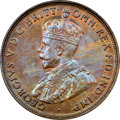 Australia: George V Penny 1922-(m&p) MS64 Brown NGC