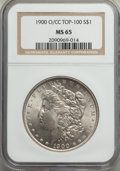 1900-O/CC $1 MS65 NGC. A Top 100 Variety. NGC Census: (179/11). PCGS Population: (867/121). CDN: $1,550 Whsle. Bid for...