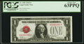 Low Serial Number 1592 Fr. 1500 $1 1928 Legal Tender Note. PCGS Choice New 63PPQ
