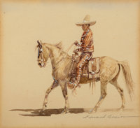 Edward Borein (American, 1873-1945) Mexican Charro and American Cowboy (two works), 1943