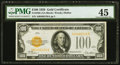Fr. 2405 $100 1928 Gold Certificate. PMG Choice Extremely Fine 45