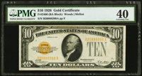 Fr. 2400 $10 1928 Gold Certificate. B-A Block. PMG Extremely Fine 40
