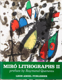 Joan Miró and Raymond Queneau Miro Lithographs I and II (two books), 1975 Hardcover books 13 x 10