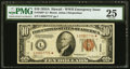Small Size:World War II Emergency Notes, Fr. 2303* $10 1934A Hawaii Federal Reserve Note. PMG Very Fine 25.. ...