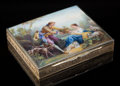 Silver & Vertu, A Continental Partial Gilt Silver and Guilloché and Painted Enamel Box, possibly Austria, circa 1900. Marks: 935. 5/8 x ...