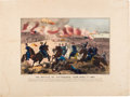 "Military & Patriotic:Civil War, [Battle of Shiloh]. Plate Titled ""The Battle of Pittsburgh, Tenn. April 7th, 1862."". ..."