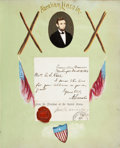 Autographs:Statesmen, [United States Sanitary Commission]: Autograph Album Sold at New York Metropolitan Fair to Benefit Wounded Soldiers, Including... (Total: 2 Items)