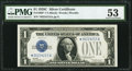 Small Size:Silver Certificates, Fr. 1603* $1 1928C Silver Certificate. PMG About Uncirculated 53.. ...