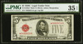 Fr. 1528* $5 1928C Mule Legal Tender Note. PMG Choice Very Fine 35 EPQ