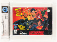 Justice League Task Force Wata 9.4 A+ Sealed SNES, Acclaim, 1995, USA