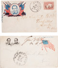 Political:Small Paper (pre-1896), Abraham Lincoln: Pair Of Campaign And Patriotic Covers.. ... (Total: 2 Items)