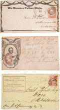 Political:Small Paper (pre-1896), Abraham Lincoln: Three Political Covers.. ... (Total: 3 Items)