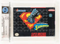 Video Games:Nintendo, The Death and Return of Superman Wata 7.0 A Sealed SNES, Sunsoft, 1994, USA....
