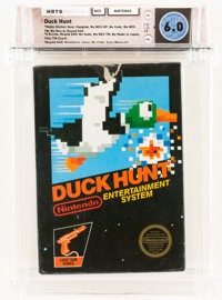 Duck Hunt [Matte Sticker, First Release] Wata 6.0 CIB NES, Nintendo, 1990, USA
