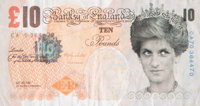 Banksy X Banksy of England Di-Faced Tenner, 10 GBP Note, 2005 Offset lithograph in colors on paper