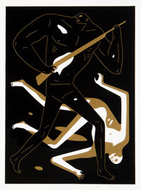 Cleon Peterson (b. 1973) Doom Alone II, 2017 Screenprint in colors on Coventry Rag paper 24 x 18