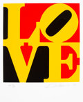 Fine Art - Work on Paper:Print, Robert Indiana (1928-2018). Book of Love #9: German Love, 1996. Screenprint in colors on wove paper. 24 x 20 inches (61 ...