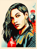Fine Art - Work on Paper:Print, Shepard Fairey (b. 1970). Power & Equality: Dove, 2019. Screenprint in colors on speckled cream paper. 24 x 18 inches (6...