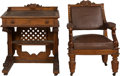 Political:3D & Other Display (pre-1896), U.S. House of Representatives: Circa 1857 Desk and Chair.. ... (Total: 2 Items)