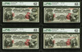 Newark, OH - $10-$10-$10-$20 1875 Fr. 419/434 The First National Bank Ch. # 858 PMG Uncirculated 62 EPQ