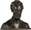 Antiques:Decorative Americana, Abraham Lincoln: Heroic-Size Bronze Bust by Joseph Kapfenberger.. ...