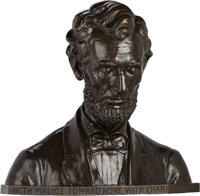 Abraham Lincoln: Heroic-Size Bronze Bust by Joseph Kapfenberger