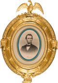 Political:3D & Other Display (pre-1896), Abraham Lincoln: Exquisite Civil War Era Framed Lithograph.. ...