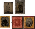 Photography:Tintypes, Group Of Civil War Soldier Tintypes.. ...